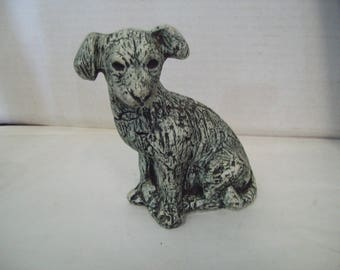Shapes of Clay Mount St. Helens Ash Clay Dog Puppy Figurine Stan Langtwait, FREE SHIPPING