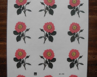 12 Flower stickers