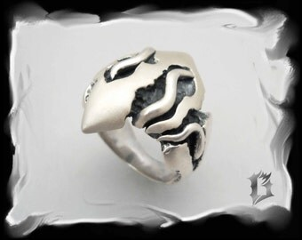 Sterling silver ring - oxidized - tribal, gothique inspiration | #507