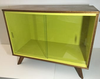 SOLD - Mid Century Record Cabinet - Hand Painted