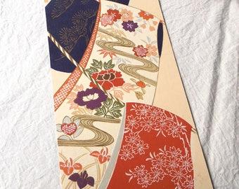 Kimono, design, illustration, printmaking, Japan, Kyoto,