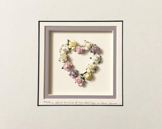 8 x 10 Rose Heart - Unframed Art