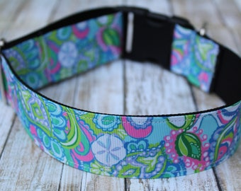 Designer Inspired Dog Collar - XL Dog Collar - Nautical Dog Collar - Sand Dollar Dog Collar - Sand Dollar Dog Leash - Marine Dog Collar
