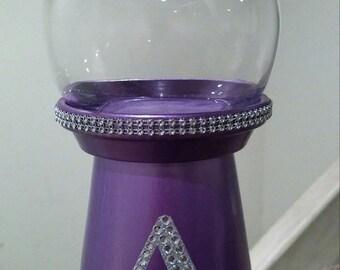 Purple Rhinestone Bubble Gum Machine