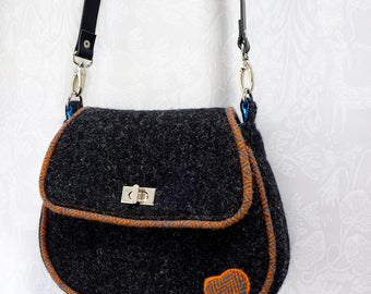 Custom Made Bag. Harris Tweed Bag. Cross Body Bag.  Made To Order.