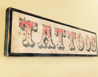 LARGE Vintage Tattoo Sign - Sailor Jerry Style