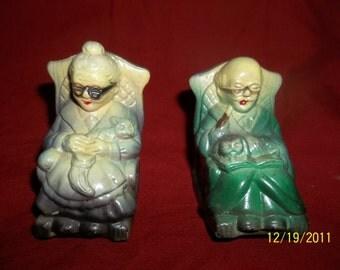 grandma and grandpa salt and pepper shakers