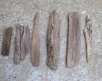 Driftwood pieces flat