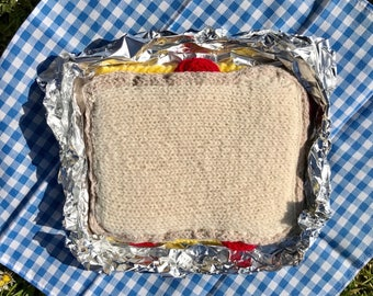 Cheese and Tomato Sandwich Play Food Knitting Pattern