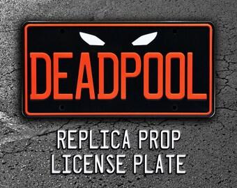 DEADPOOL / Wade Wilson / Ryan Reynolds / X-Men *Metal Stamped* Standard USA Size License Plate