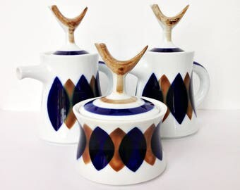 Rare Sargadelos Porcelain midcentury tea set
