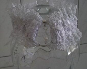 White wedding, wedding, wedding garter garter garter