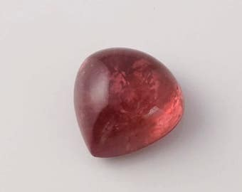 22 ct.  17mm Natural Rubellite Tourmaline Heart Cabochon- 50T01