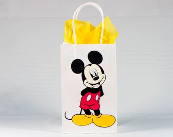 Mickey Mouse - Mickey Mouse Birthday Bags - Mickey Mouse Birthday Party - Mickey Mouse Party Bags - Mickey Mouse Party Favors-Set of 12 Bags