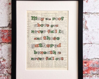 Sale, Half Price Clearance Sale, St Patrick's Day, Funny Art Print, Housewarming Gift, Irish Gifts, Funny Gift, Irish Blessing