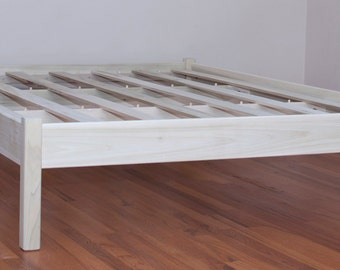 QUEEN PLATFORM BED Cottage style (unfinished)  No Headboard. - New Low Price