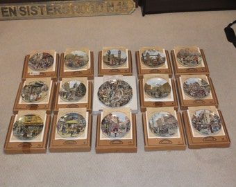 Davenport Cries of London Complete set of 15 Limited Edition Collector decorative wall plates MINT