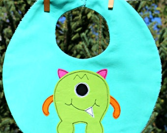 Monster boy bib sewing pattern