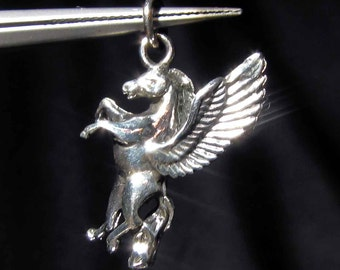 Sterling silver Pegasus fantasy Animal pendant