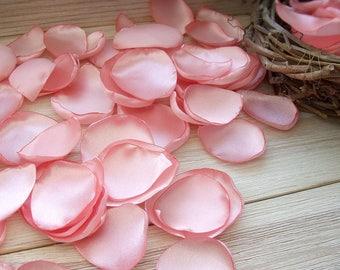 Petals peach,silk petals,peach wedding,Wedding Petal,table decoration,Petals Handmade,Fabric Petals,Table Scatters,Peach petals,peach petals