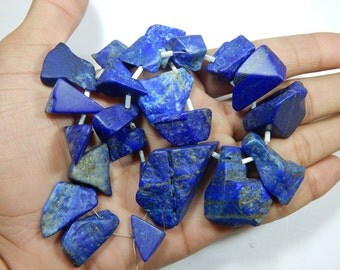 Gemstone 100% Natural Real Lapis Lazuli Rough Beads 13x15 To 25x42 MM Approx Good Quality Wholesale Price