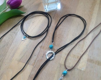 Black Choker Necklace, Turquoise Necklace, lariat, choker, bohemian, free spirit, gift for her, contemporary, indigo eve jewellery, feather