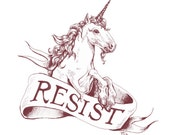 Resist! // pigment print, archival, 8x10 // resistance art, art for charity, all proceeds donated