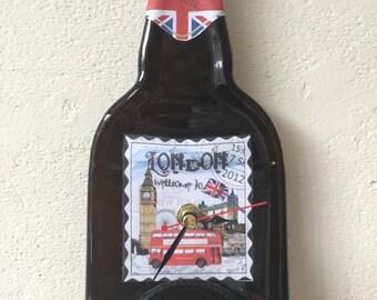 London Landmark bottle clock