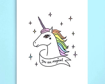 You are magical Unicorn Valentines Day Card