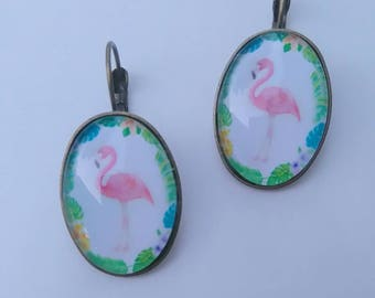 "Earrings style ""Flemish rose"""