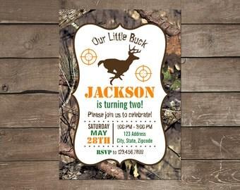 Hunting Birthday Invitation, Camo Birthday Invitation, Deer Birthday Invitation, Hunting Birthday, Boy Birthday Invitation, Deer Birthday