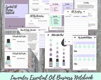 Essential Oil Business Notebook | Aromatherapy Planner | Oil Business Binder | Dilution Chart | Aromatherapy Guide | Oil Lover Gift