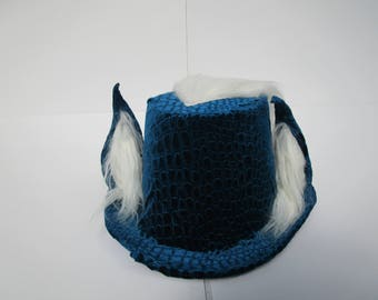 Blue Dragon Furry Tophat