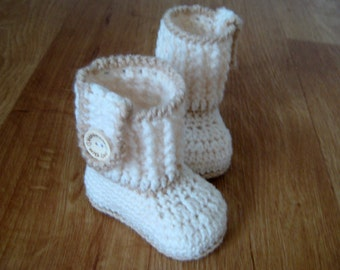 Crochet pattern baby booties Instant Download (PDF file) Nr.1