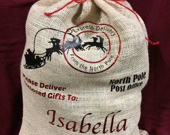 Custom personalized santa sacks