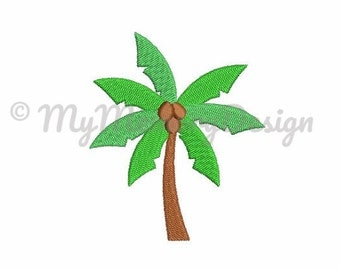 Palm tree embroidery design - Summer embroidery design - Fill stitch embroidery - Machine embroidery  design - INSTANT DOWNLOAD - 6 size