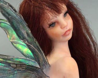 OOAK PIN UP Sexy Fairy Art Doll sculpture by Bibs Lovelypam