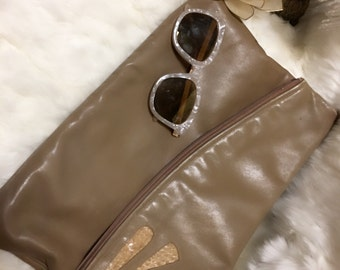 Large Leather cluch (vintage)