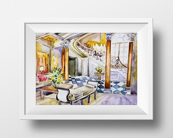 Wall art friends tv show monica 39 s apartment kitchen for Blair waldorf apartment