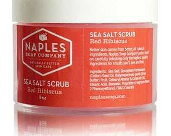 Red Hibiscus Sea Salt Scrub