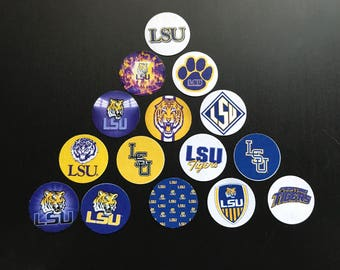 LSU Tigers Buttons Set of 15