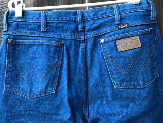 vintage wrangler jeans mens blue jeans made in usa jeans. Black Bedroom Furniture Sets. Home Design Ideas