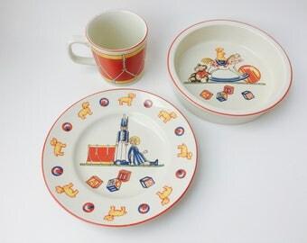 Vintage 1992 Tiffany & Co. Tiffany Toys Child's China Set/Tiffany And Co., Vintage Tiffany/Baby Shower Gift/Baby Gift/Baby Heirloom Gift