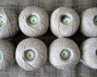 Linen&Cotton.  Set of 8 skiens.