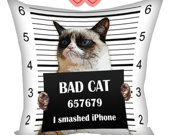 Grumpy Cat Pillow Tardar Sauce, pillow with cat, gifts for cat lovers, Cat Tardar Sauce, cushion with photos, pillow with cat, cushion cat
