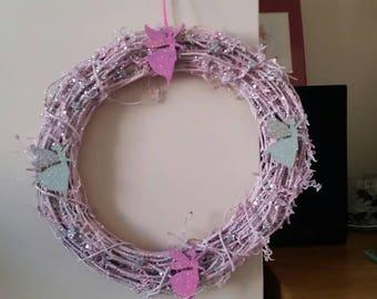Glitter fairy wreath.