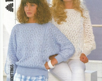 Vintage Ladies Top Knitting Pattern.