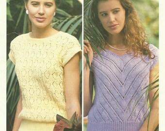 Vintage Ladies Tops Knitting Pattern.