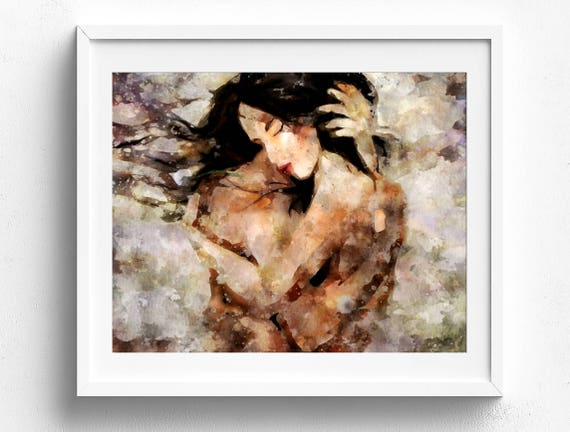 Original Watercolor, Romantic Art, Abstract Watercolor, Modern Watercolor,  Romantic Print, Love Wall Art, Bedroom Wall Art, Modern Art