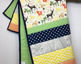 Handmade Woodland Toddler Quilt/Playmat